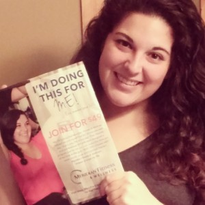 Here's a picture of me with the newsletter that I got in the mail!
